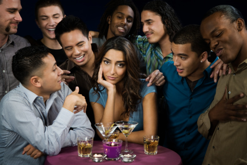 woman-surrounded-by-men